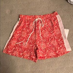 Red paisley short